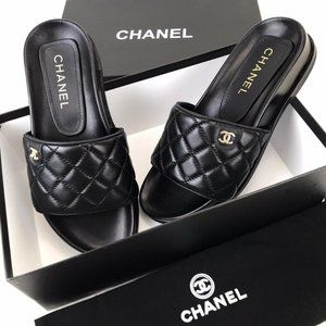 Chanel Quilted Mule Sandal